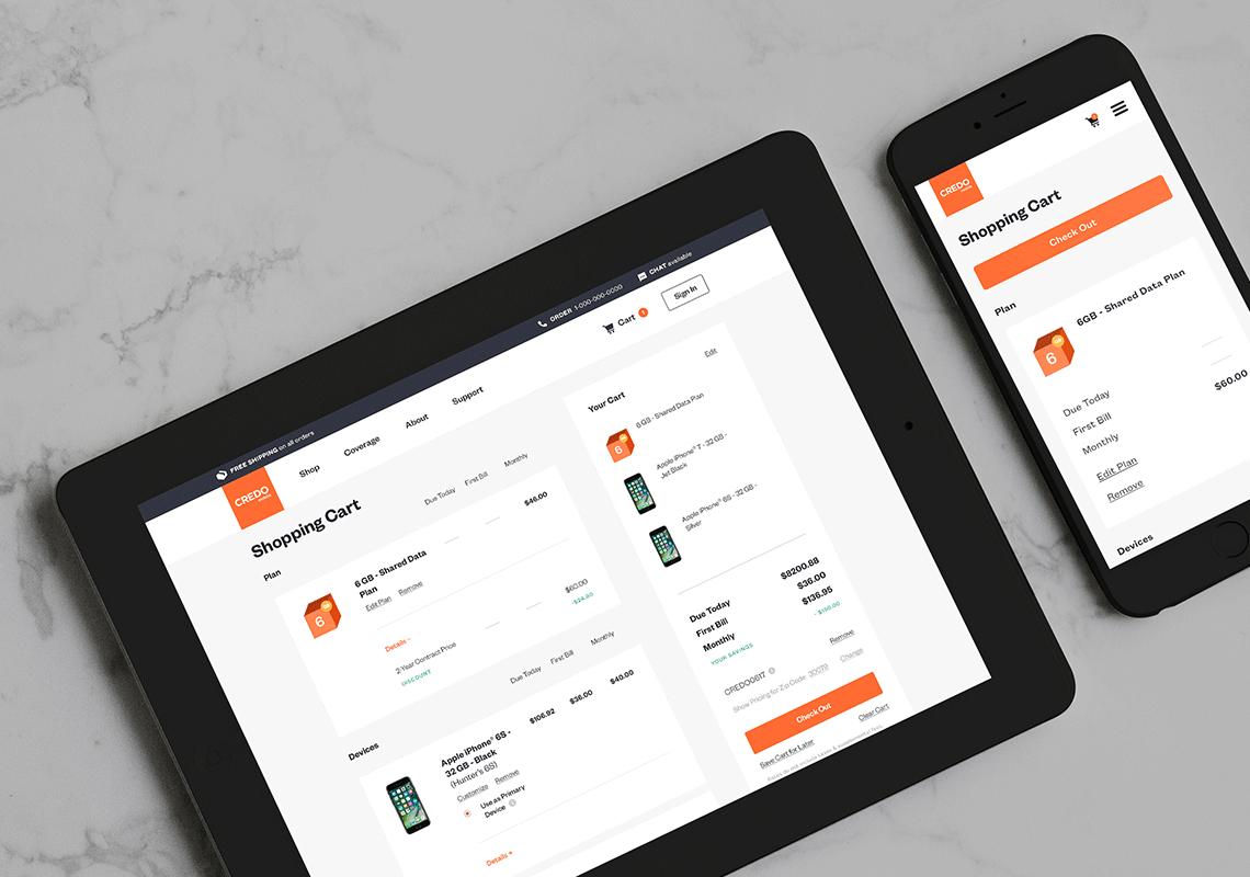 CREDO Mobile Ecommerce Website