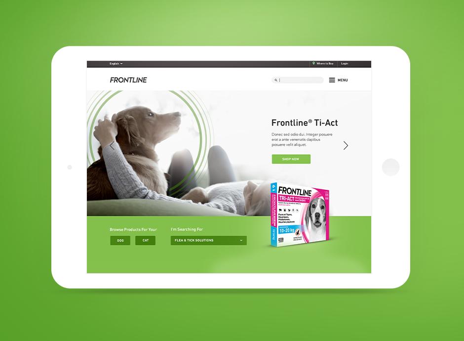 Frontline Pet Care UI Concept